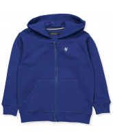 Zip-Sweat in Blau