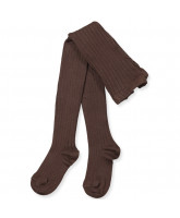 Ripp Strumpfhose in Marron