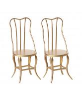 2er-Pack Vintage Stühle
