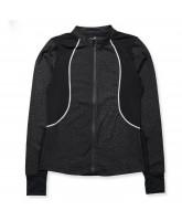 Leo- zip Jacke in Schwarz - Für Erwachsene