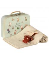 Rostfarbenes Baby Geschenkset in Koffer