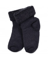 Navy Baby Woll-Socken