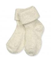 Cremefarbene Baby Socken
