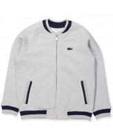 Zip-Sweat in Grau