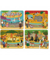 Puzzle - Zoo - 4 x 6 Teile