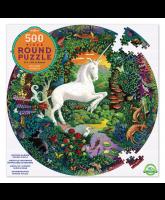 Rundes Puzzle 500 Teile - Einhorn