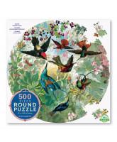 Rundes Puzzle 500 Teile - Kolibris