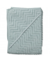 Bio Babyhandtuch in Zigzag Dark Mint
