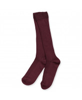 Ripp-Socken in Bordeaux