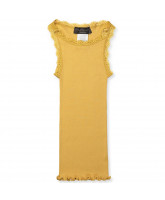 Top aus Seide in Mustard