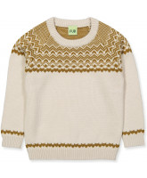 Pullover aus Wolle in Creme