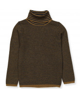 Pullover aus Wolle in Sienna/Navy