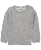Pullover aus Wolle in Grau