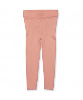 Leggings aus Wolle in Blush