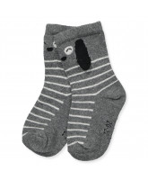 Babysocken in Grau