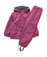 Gummi-Regenset in Rosa mit Fleece