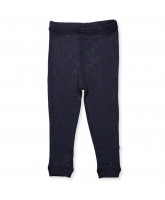 Leggings aus Wolle in Navy