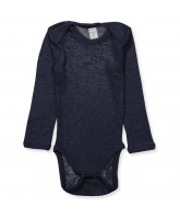 Body aus Wolle in Navy