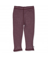 Leggings aus Wolle in Rosa