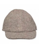 Cap mit Wolle in Camel