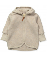 Jacke mit Wolle in Camel