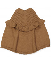 Poncho aus Wolle in Oak