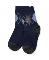 Socken mit Wolle in Navy
