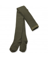 Strumpfhose mit Wolle in Army