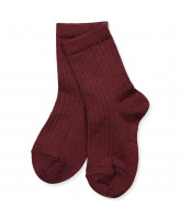 Socken mit Wolle in Bordeaux