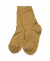 Socken mit Wolle in Bronze