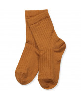 Socken mit Wolle in Honey