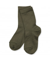 Socken mit Wolle in Army