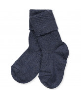 Babysocken mit Wolle in Blau