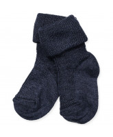 Socken in Wolle/Seide in Navy