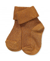 Socken mit Glitzer in Honey