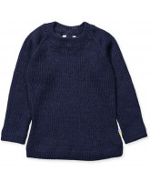 Langarmshirt in Navy aus Wolle