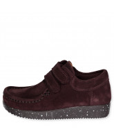 Schuhe aus Wildleder in Grape