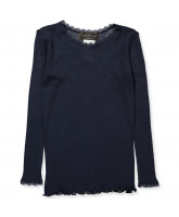 LS t-Shirt mit Wolle in Navy