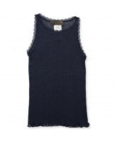Top mit Wolle in Navy