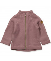 Fleece-Jacke aus Wolle in Rosa