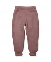 Fleece-Hose aus Wolle in Rosa