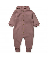 Fleece-Overall aus Wolle in Rosa