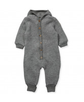 Fleece-Overall aus Wolle in Grau