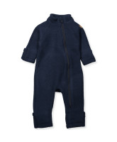 Fleece-Overall aus Wolle in Navy
