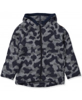 Fleece-Jacke aus Wolle in Camo