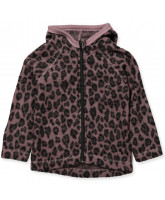 Fleece-Jacke aus Wolle in Leo