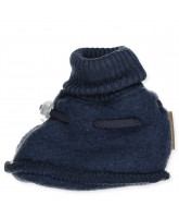 Fleece-Krabbelschuhe aus Wolle in Navy