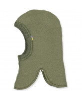 Fleece- Schlupfmütze in Olivegreen aus Wolle