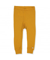 Leggings in Curry aus Wolle