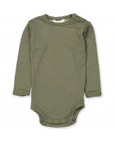 Body in Olivegreen aus Wolle